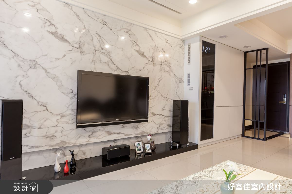 40坪新成屋(5年以下)_現代風客廳案例圖片_好室佳室內設計_好室佳_簡約感 影音機能屋之4