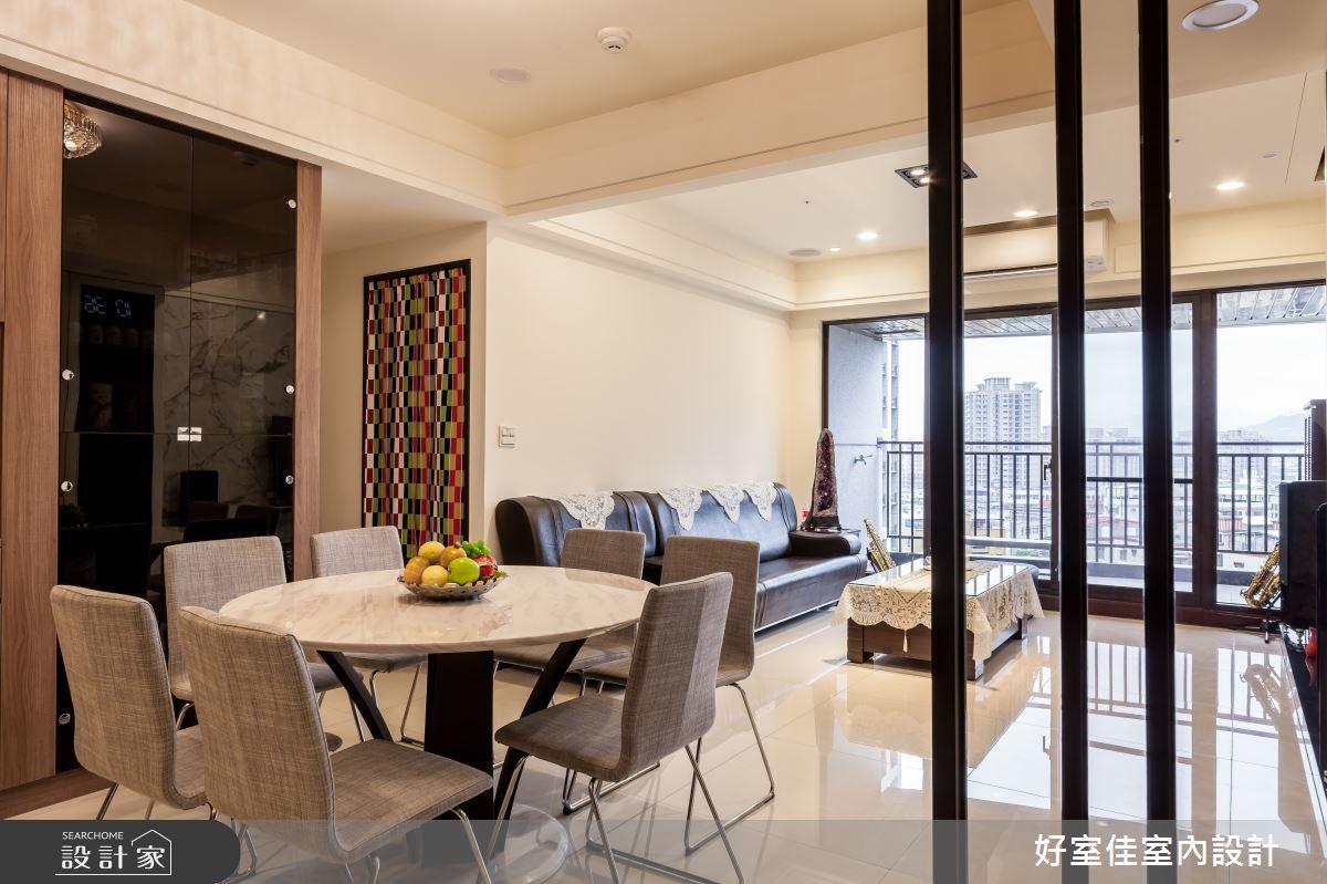 40坪新成屋(5年以下)_現代風餐廳案例圖片_好室佳室內設計_好室佳_簡約感 影音機能屋之5