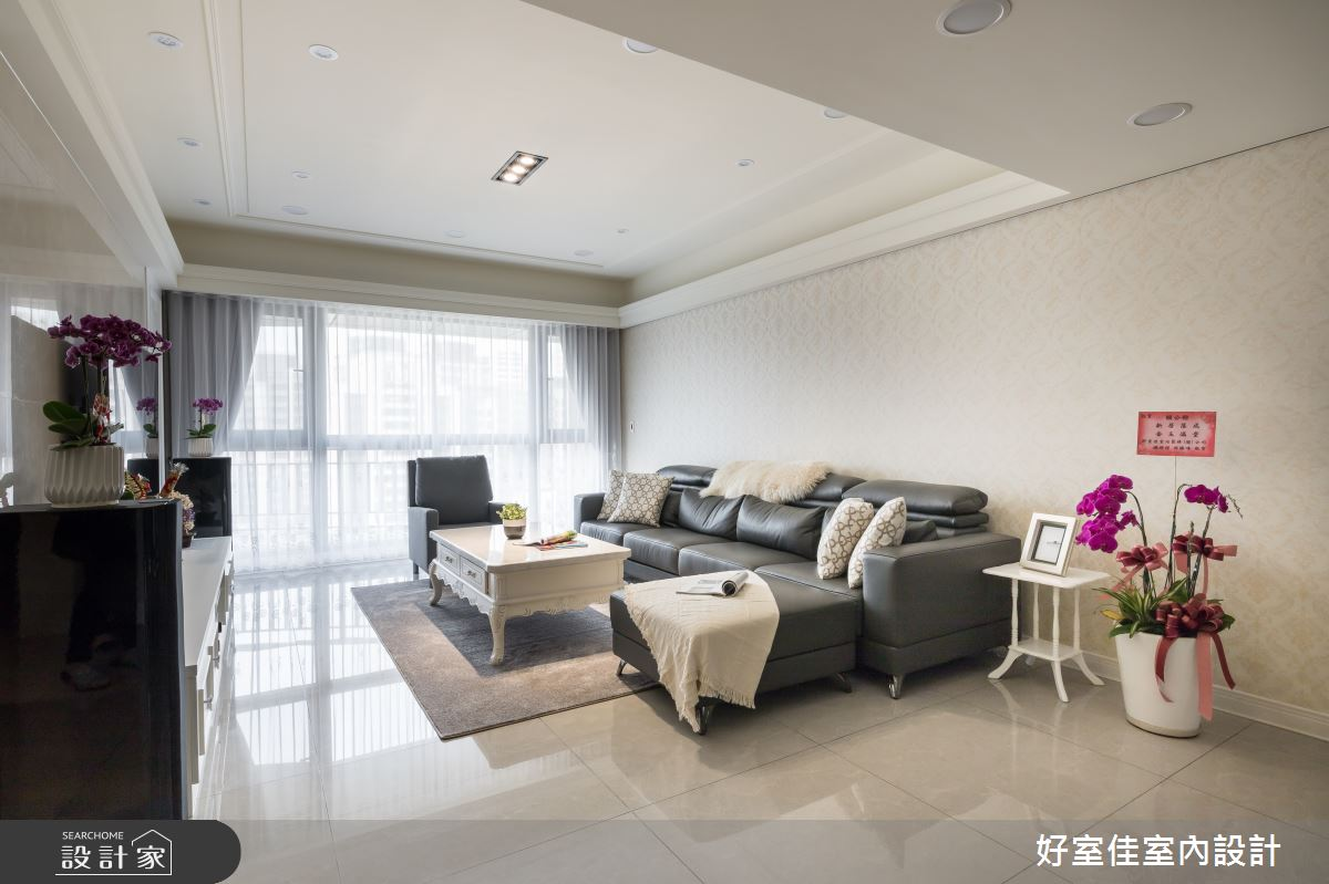 50坪新成屋(5年以下)_現代風客廳案例圖片_好室佳室內設計_好室佳_甜入你心的優雅美學之2