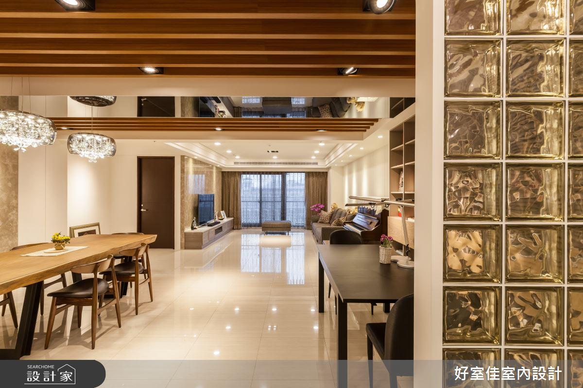 46坪新成屋(5年以下)_混搭風案例圖片_好室佳室內設計_好室佳_質潤。自在鏡謐好宅之4