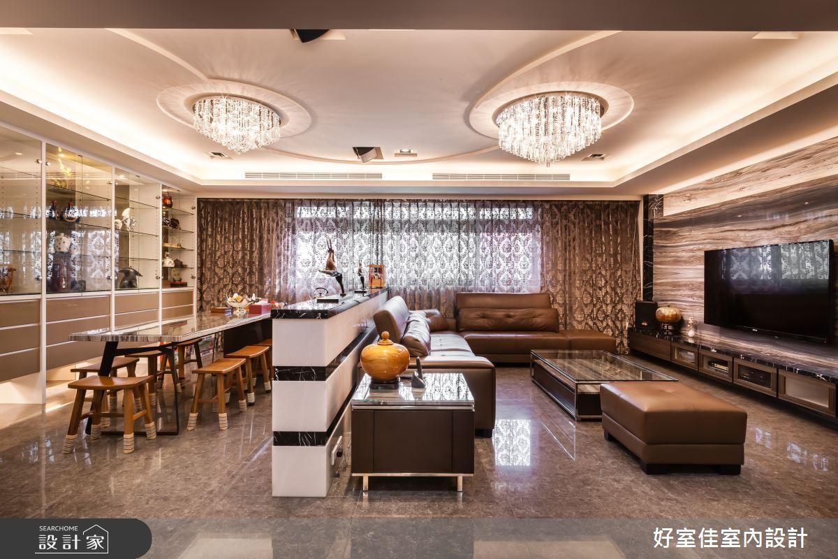 85坪新成屋(5年以下)_新古典客廳餐廳案例圖片_好室佳室內設計_好室佳_金碧奢華感巧思美宅之2