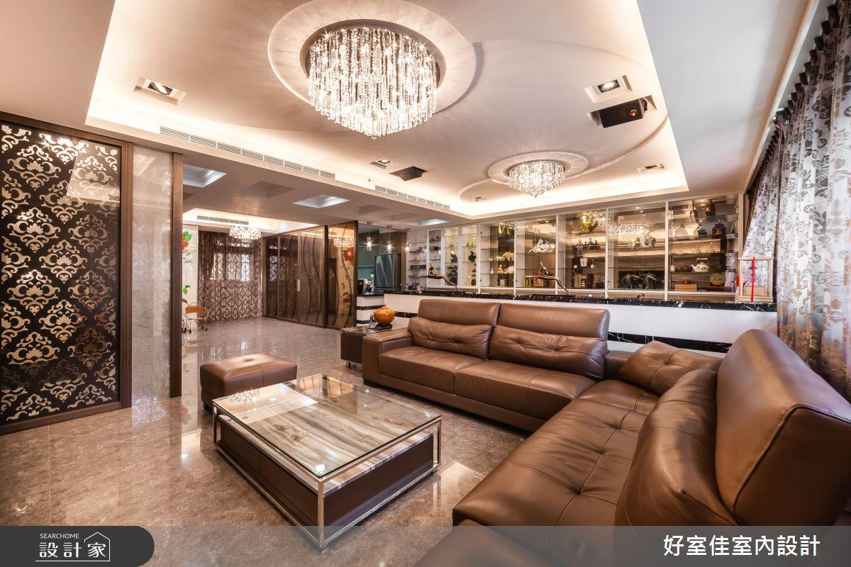 85坪新成屋(5年以下)_新古典客廳案例圖片_好室佳室內設計_好室佳_金碧奢華感巧思美宅之4