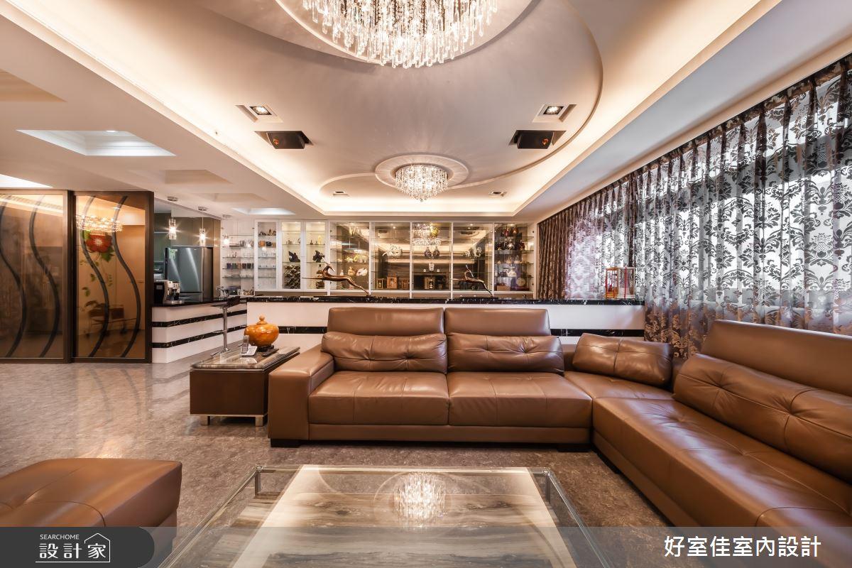 85坪新成屋(5年以下)_新古典客廳案例圖片_好室佳室內設計_好室佳_金碧奢華感巧思美宅之5