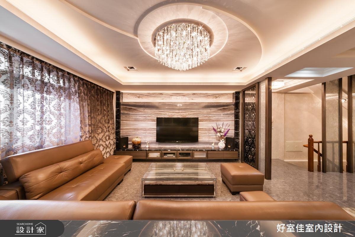 85坪新成屋(5年以下)_新古典客廳案例圖片_好室佳室內設計_好室佳_金碧奢華感巧思美宅之6