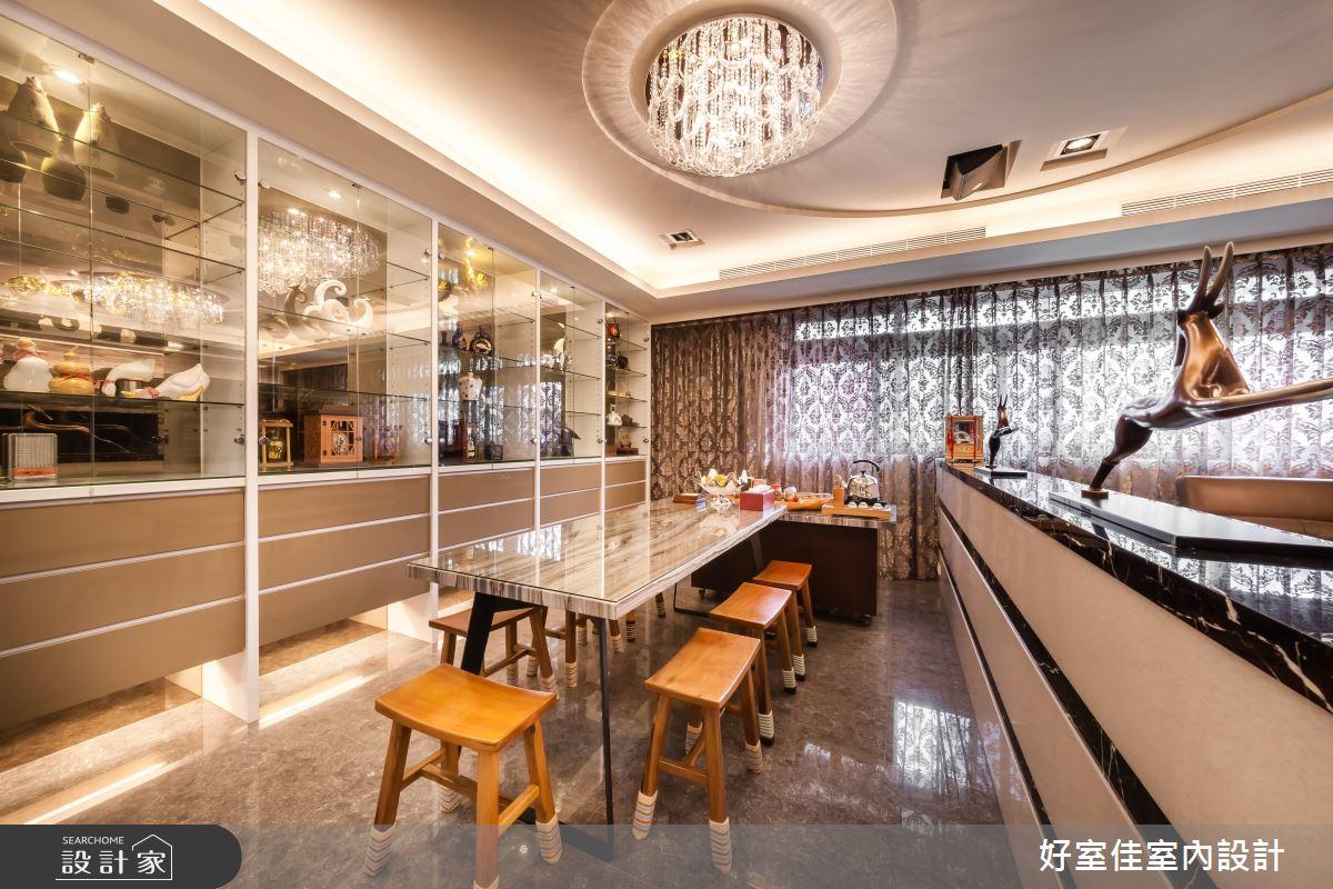 85坪新成屋(5年以下)_新古典餐廳案例圖片_好室佳室內設計_好室佳_金碧奢華感巧思美宅之8