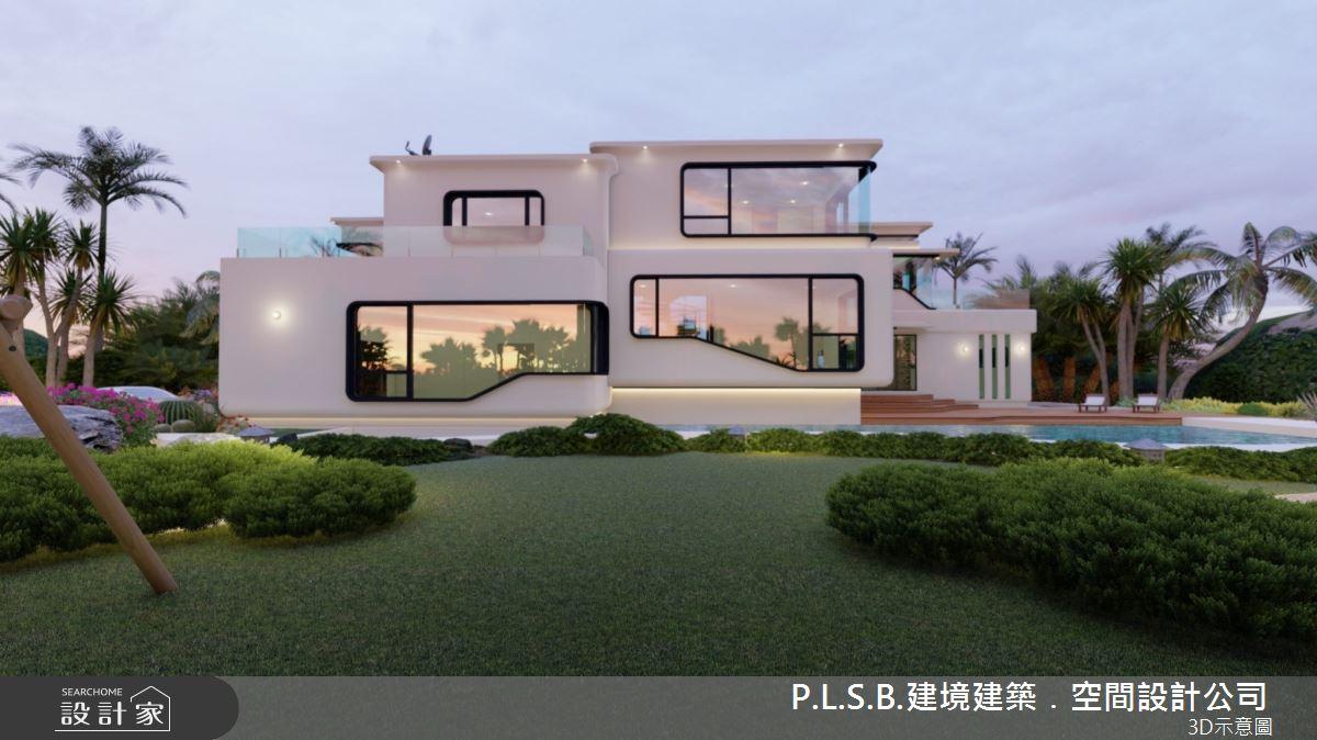 150坪新成屋(5年以下)_現代風庭院案例圖片_建境建築.空間設計公司_建境_01之4