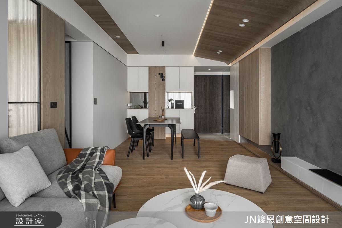 25坪新成屋(5年以下)_現代風客廳案例圖片_JN竣恩創意空間設計_竣恩_24_濃域之4