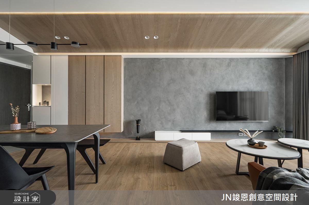 25坪新成屋(5年以下)_現代風客廳案例圖片_JN竣恩創意空間設計_竣恩_24_濃域之5