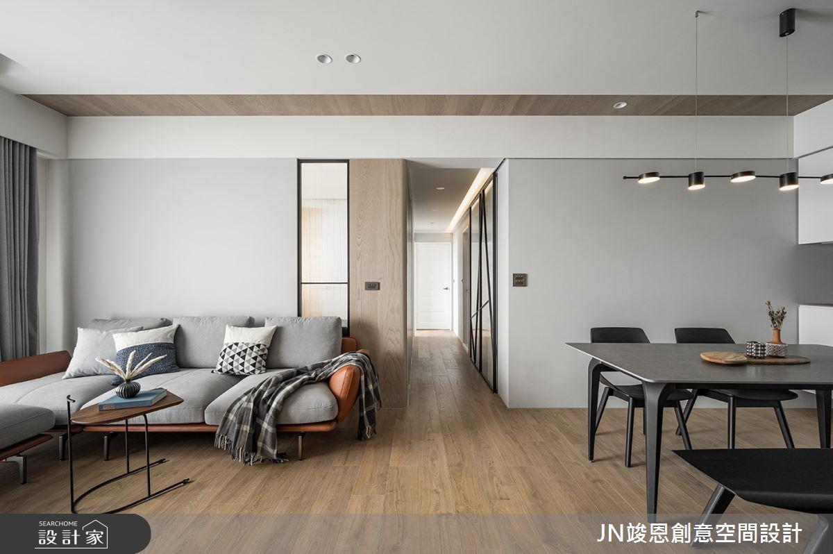 25坪新成屋(5年以下)_現代風客廳餐廳案例圖片_JN竣恩創意空間設計_竣恩_24_濃域之2