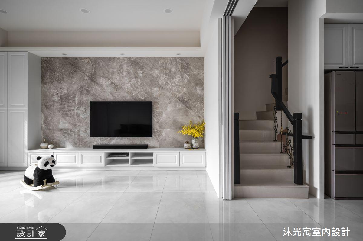 72坪新成屋(5年以下)_美式風客廳案例圖片_沐光寓室內設計_沐光寓_04之3