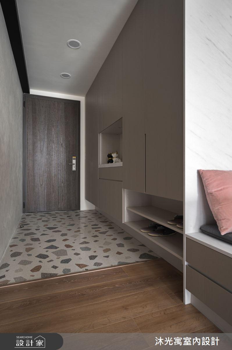 35坪新成屋(5年以下)_混搭風玄關案例圖片_沐光寓室內設計_沐光寓_05之2