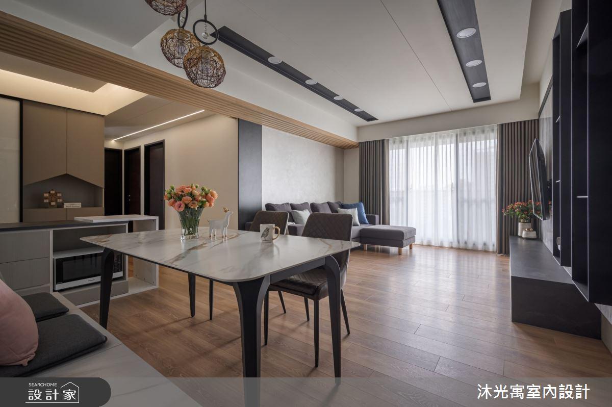 35坪新成屋(5年以下)_混搭風餐廳案例圖片_沐光寓室內設計_沐光寓_05之4