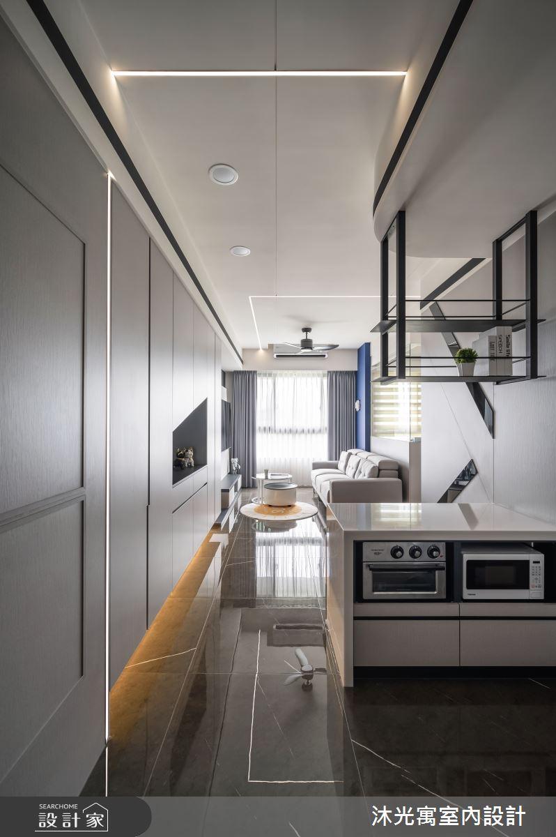 18坪新成屋(5年以下)_現代風吧檯案例圖片_沐光寓室內設計_沐光寓_06之100