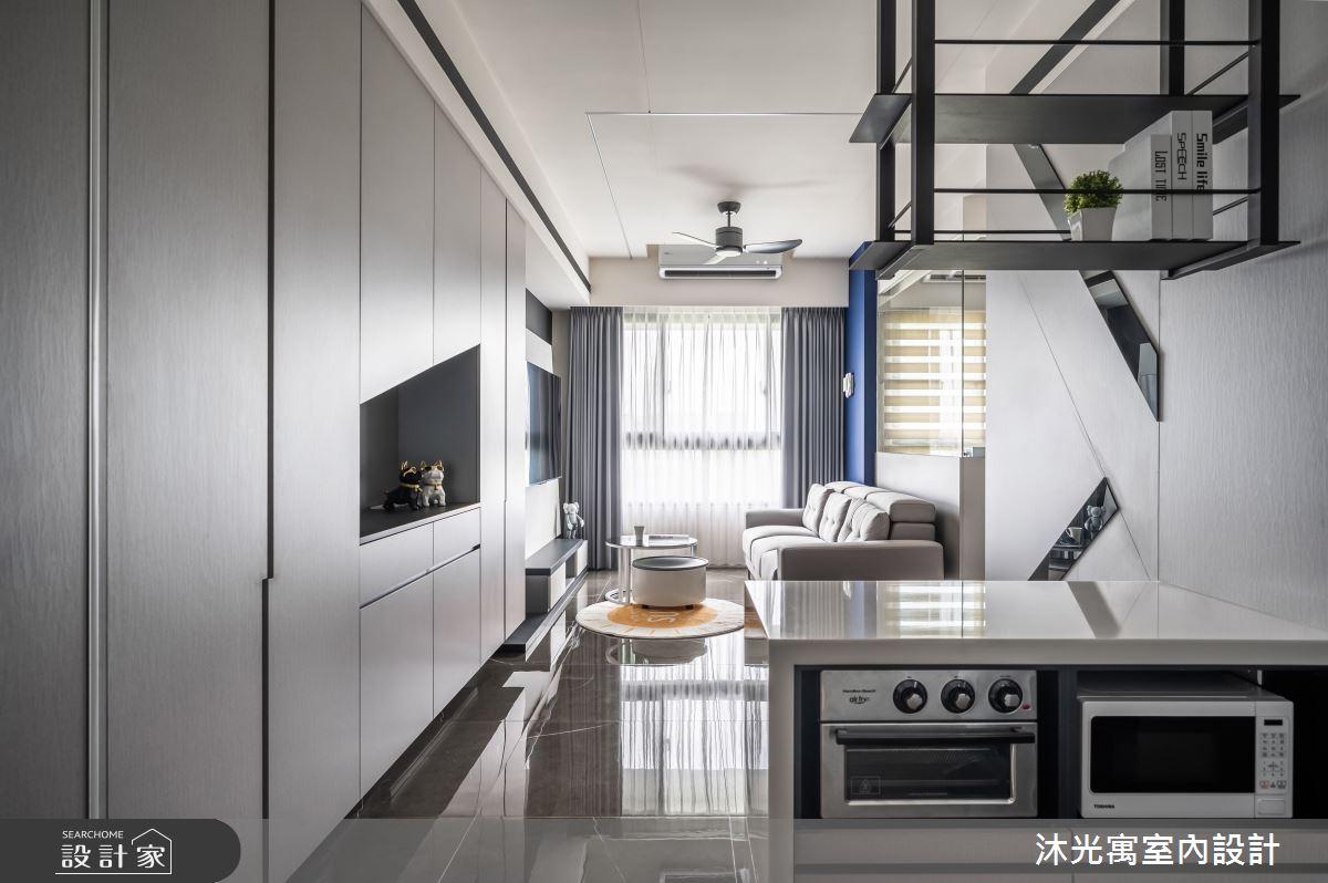 18坪新成屋(5年以下)_現代風吧檯案例圖片_沐光寓室內設計_沐光寓_06之2