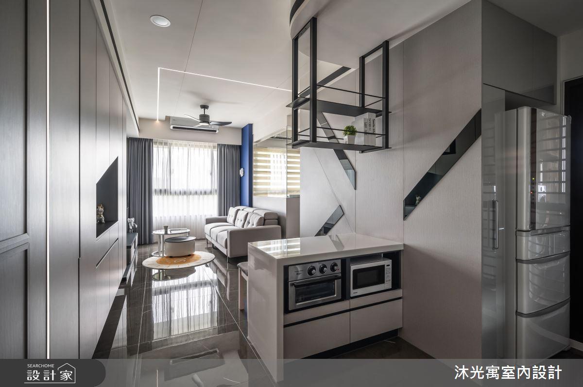 18坪新成屋(5年以下)_現代風吧檯案例圖片_沐光寓室內設計_沐光寓_06之3
