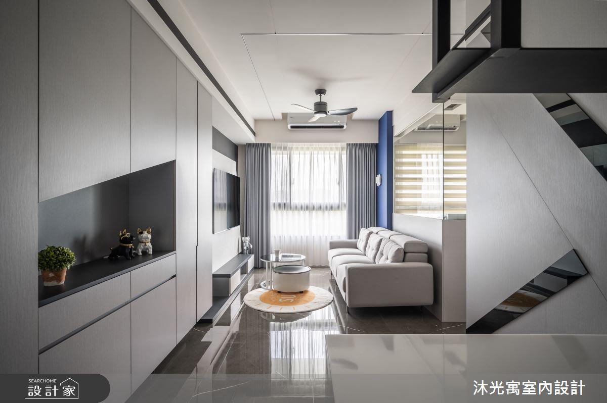 18坪新成屋(5年以下)_現代風吧檯案例圖片_沐光寓室內設計_沐光寓_06之5