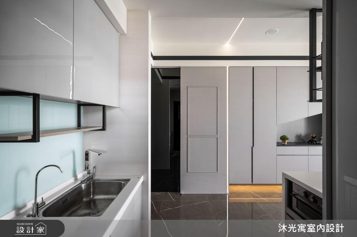 18坪新成屋(5年以下)_現代風廚房吧檯案例圖片_沐光寓室內設計_沐光寓_06之9