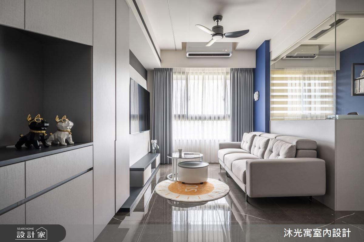 18坪新成屋(5年以下)_現代風客廳案例圖片_沐光寓室內設計_沐光寓_06之8