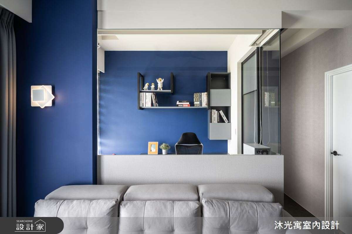 18坪新成屋(5年以下)_現代風客廳書房工作區案例圖片_沐光寓室內設計_沐光寓_06之14