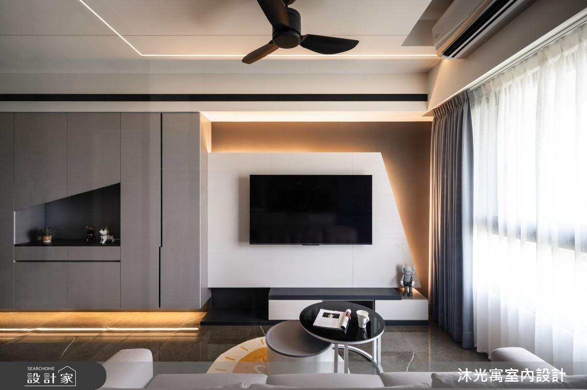 18坪新成屋(5年以下)_現代風客廳案例圖片_沐光寓室內設計_沐光寓_06之12