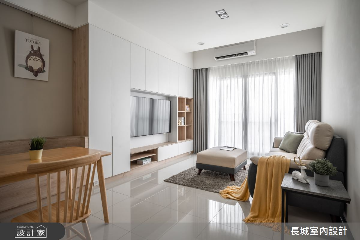 28坪新成屋(5年以下)_現代風客廳案例圖片_長城室內設計_長城_04之3