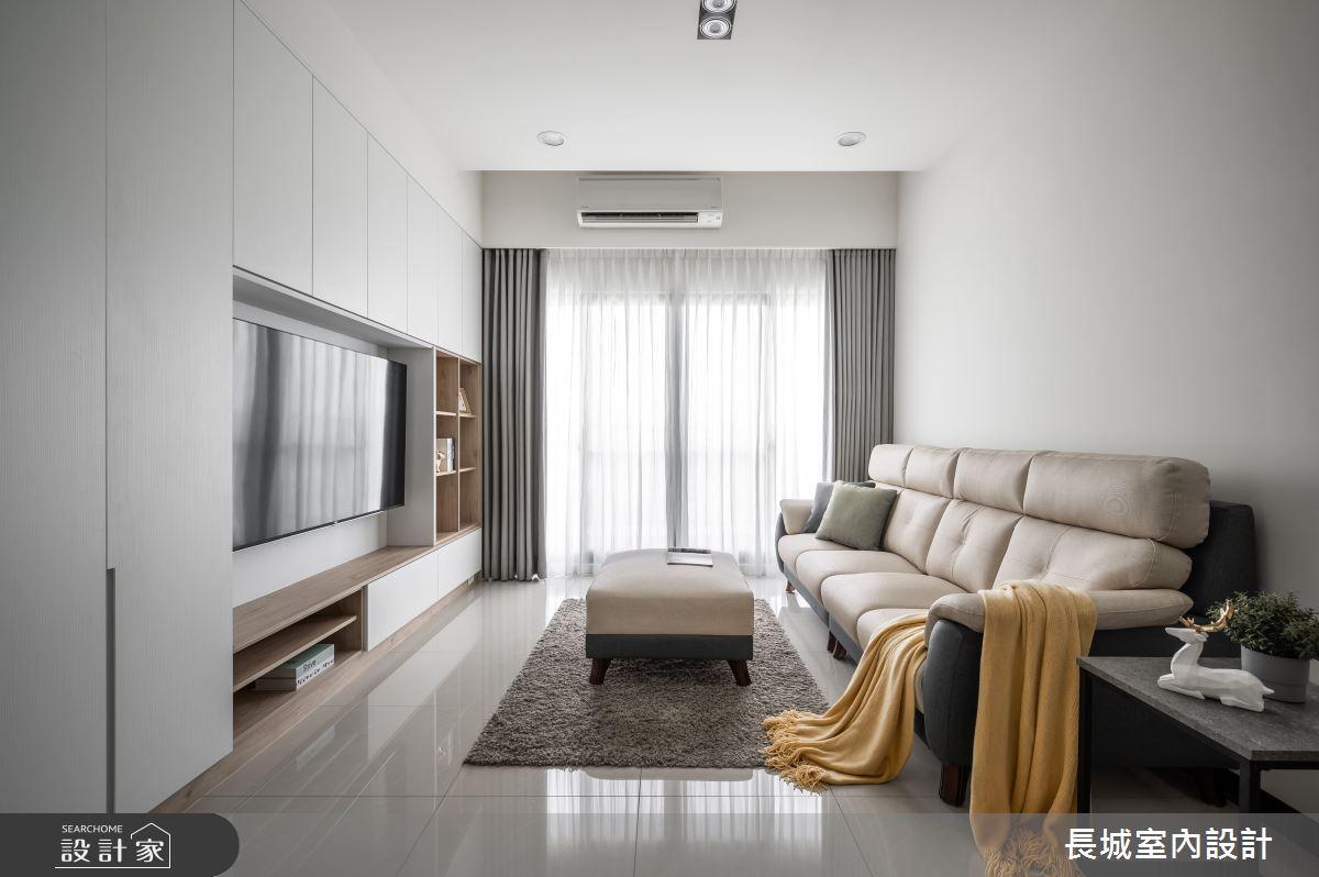 28坪新成屋(5年以下)_現代風客廳案例圖片_長城室內設計_長城_04之4