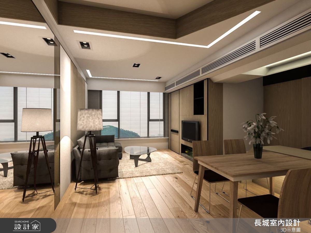 23坪預售屋_北歐風餐廳案例圖片_長城室內設計_長城_05之2