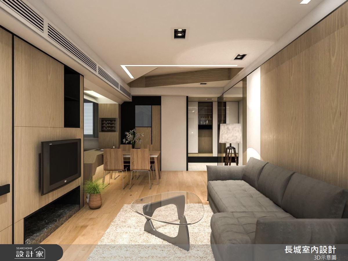 23坪預售屋_北歐風客廳案例圖片_長城室內設計_長城_05之3
