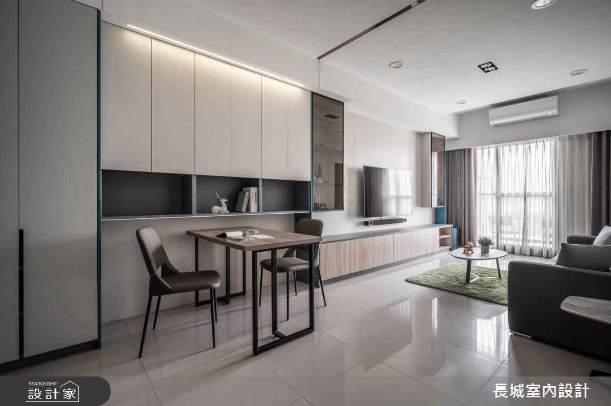 32坪新成屋(5年以下)_現代風餐廳案例圖片_長城室內設計_長城_06之2