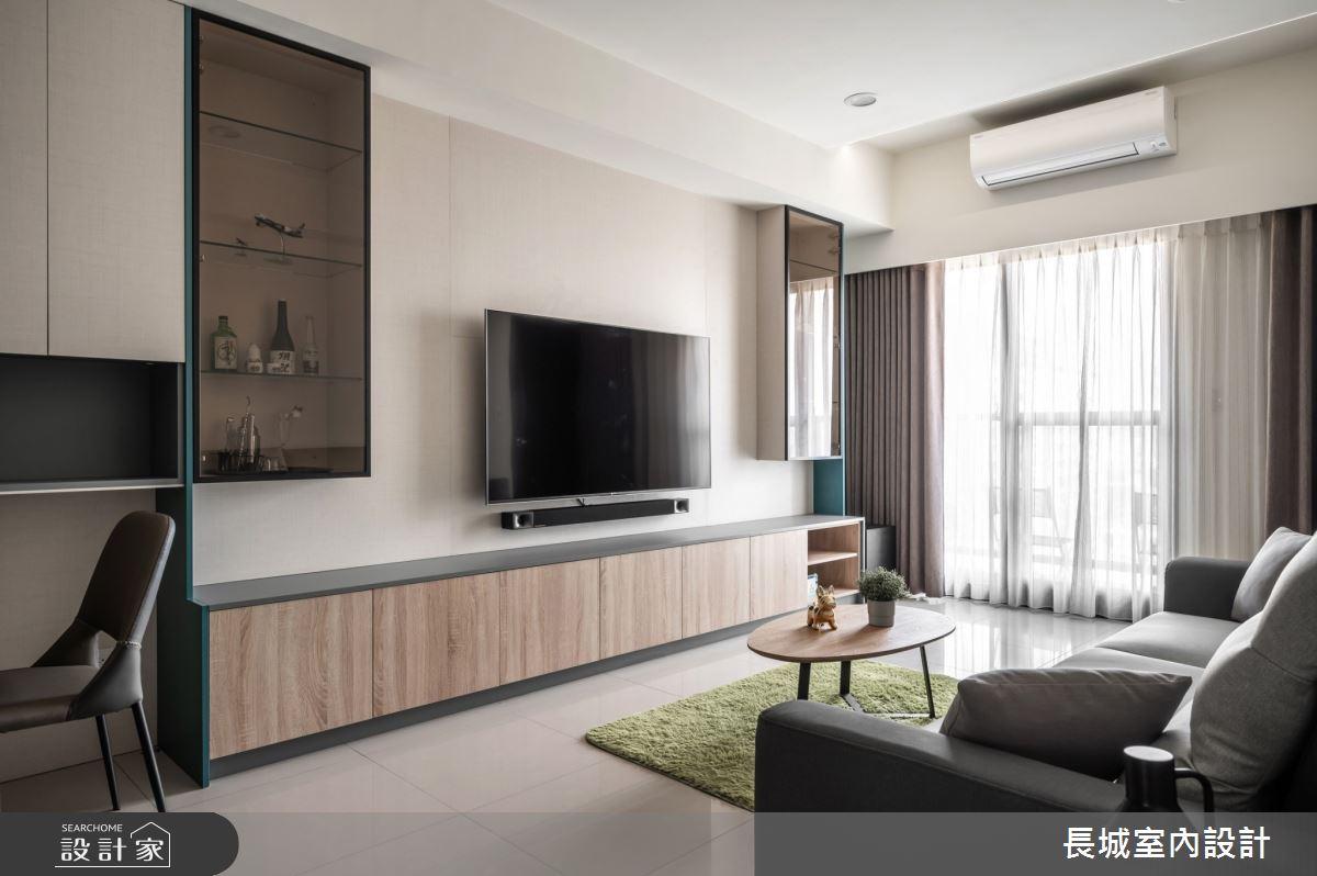 32坪新成屋(5年以下)_現代風客廳案例圖片_長城室內設計_長城_06之4