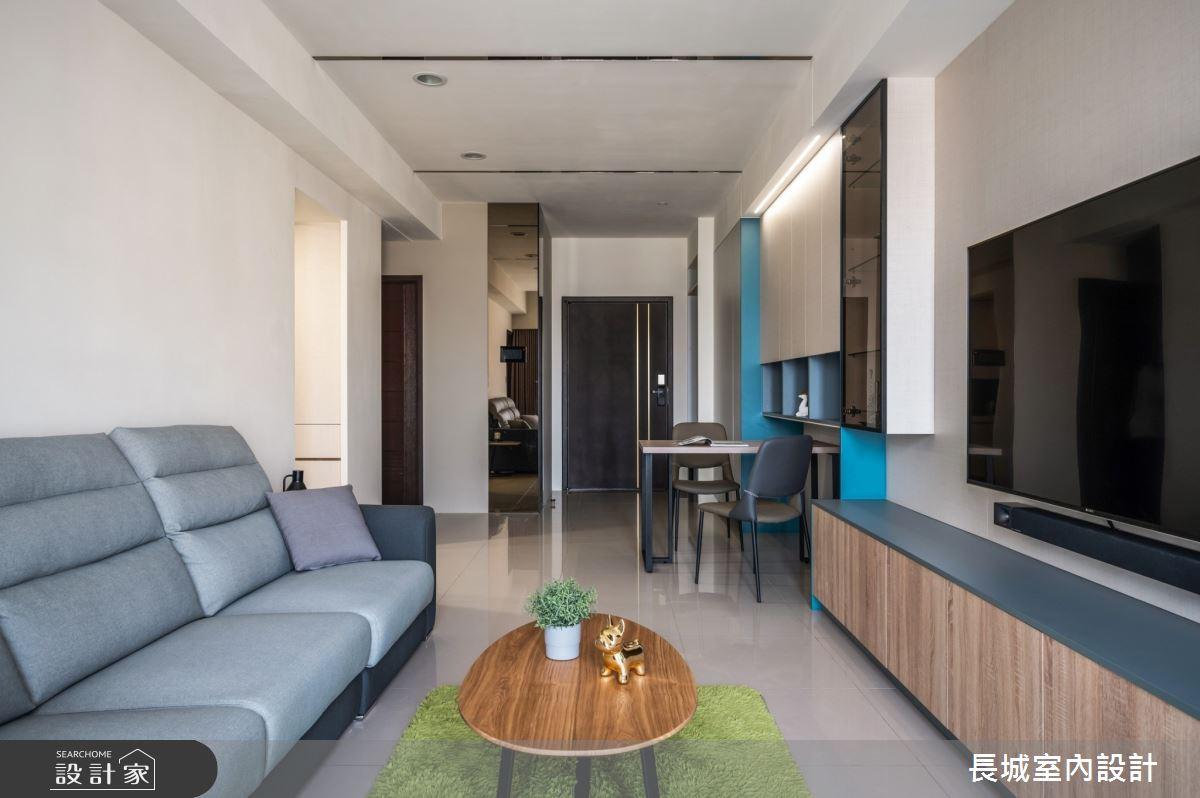 32坪新成屋(5年以下)_現代風客廳案例圖片_長城室內設計_長城_06之5