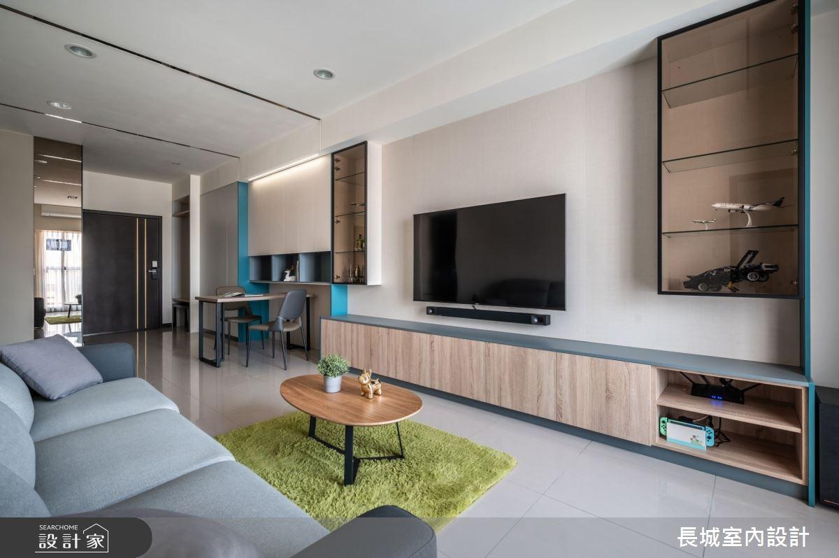 32坪新成屋(5年以下)_現代風客廳案例圖片_長城室內設計_長城_06之6