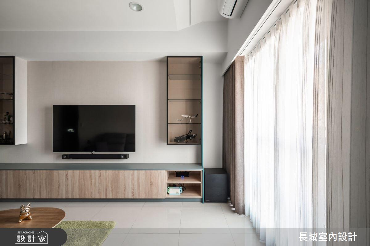 32坪新成屋(5年以下)_現代風客廳案例圖片_長城室內設計_長城_06之7
