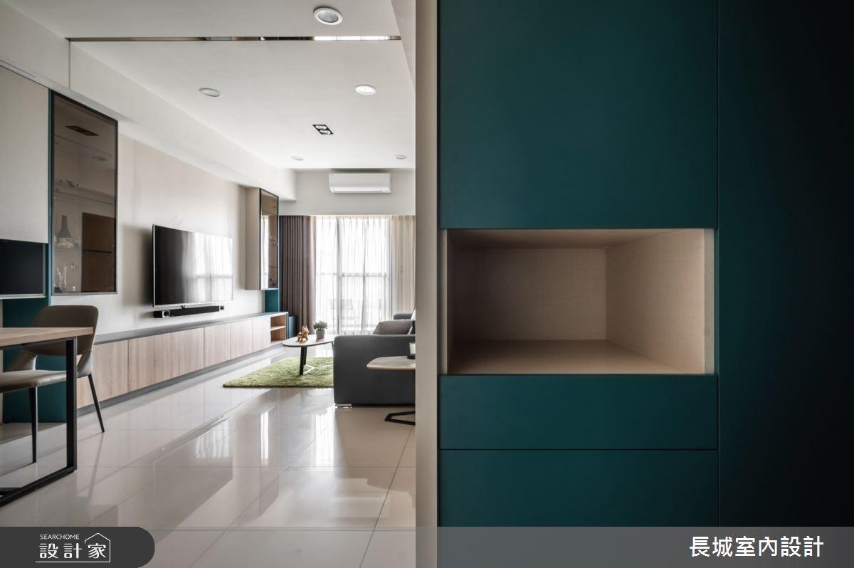 32坪新成屋(5年以下)_現代風客廳案例圖片_長城室內設計_長城_06之8