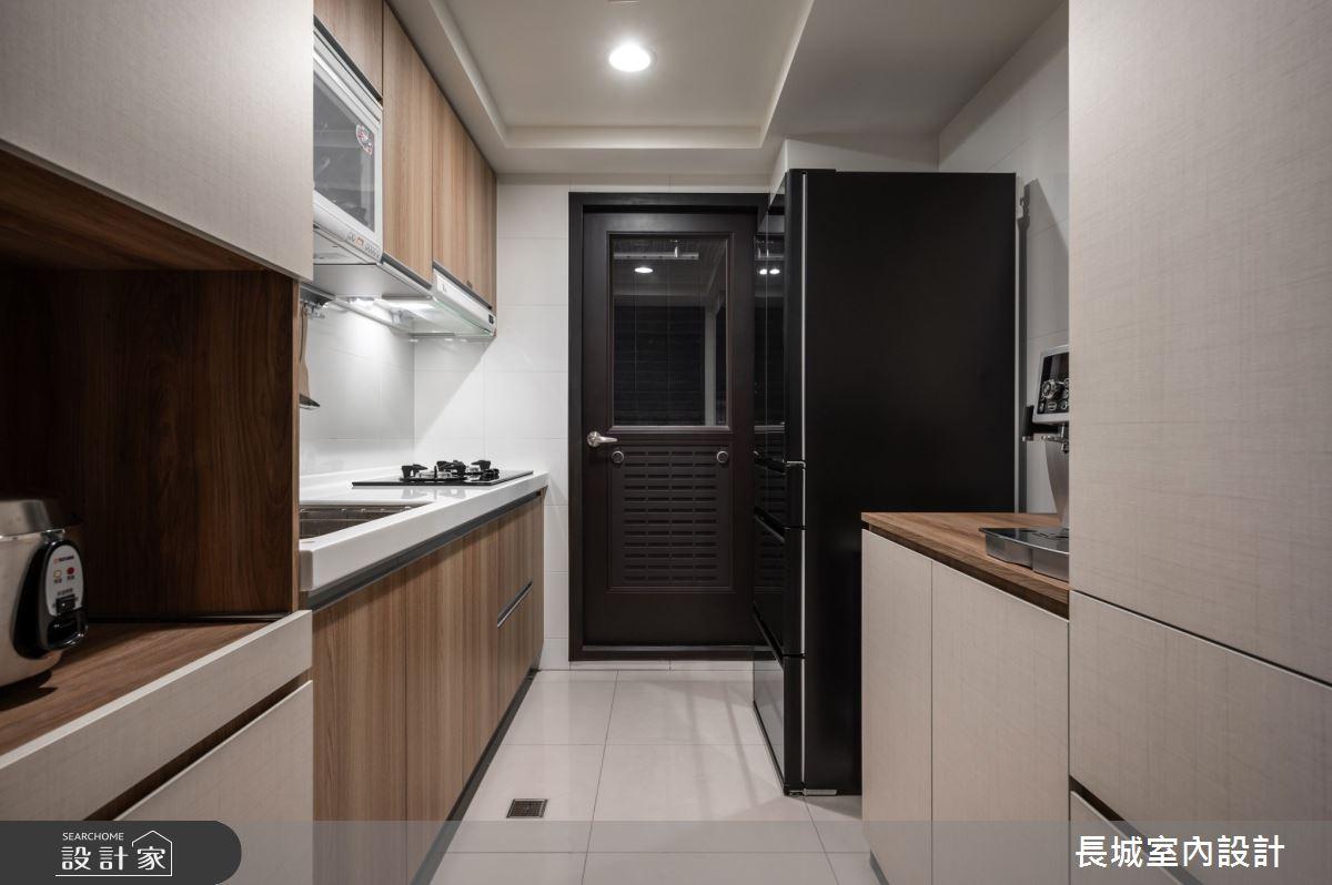 32坪新成屋(5年以下)_現代風廚房案例圖片_長城室內設計_長城_06之10