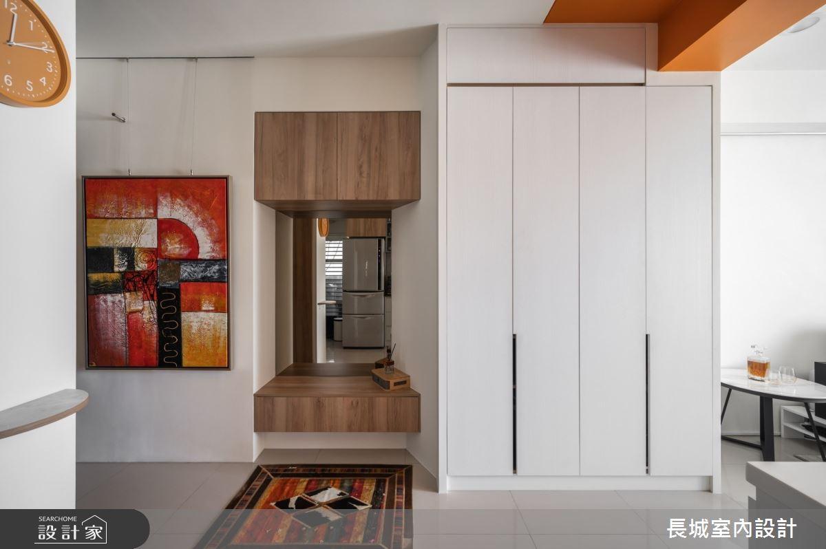 35坪新成屋(5年以下)_美式風玄關案例圖片_長城室內設計_長城_07之2
