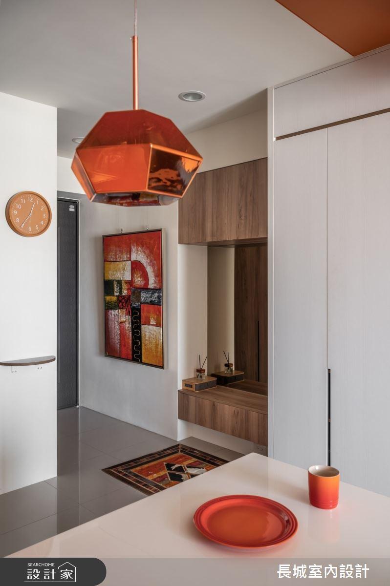 35坪新成屋(5年以下)_美式風玄關案例圖片_長城室內設計_長城_07之3