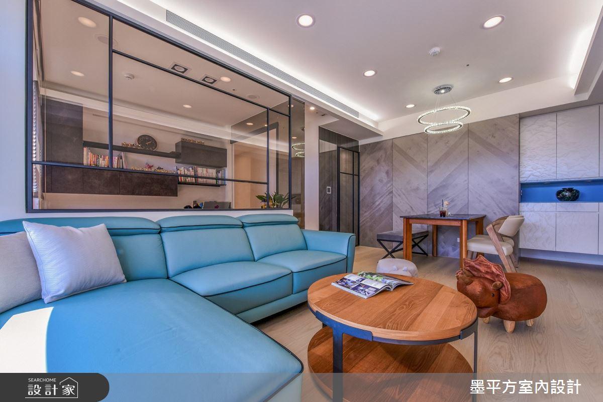 24坪新成屋(5年以下)_混搭風客廳案例圖片_墨平方室內設計裝修有限公司_墨平方_14之4