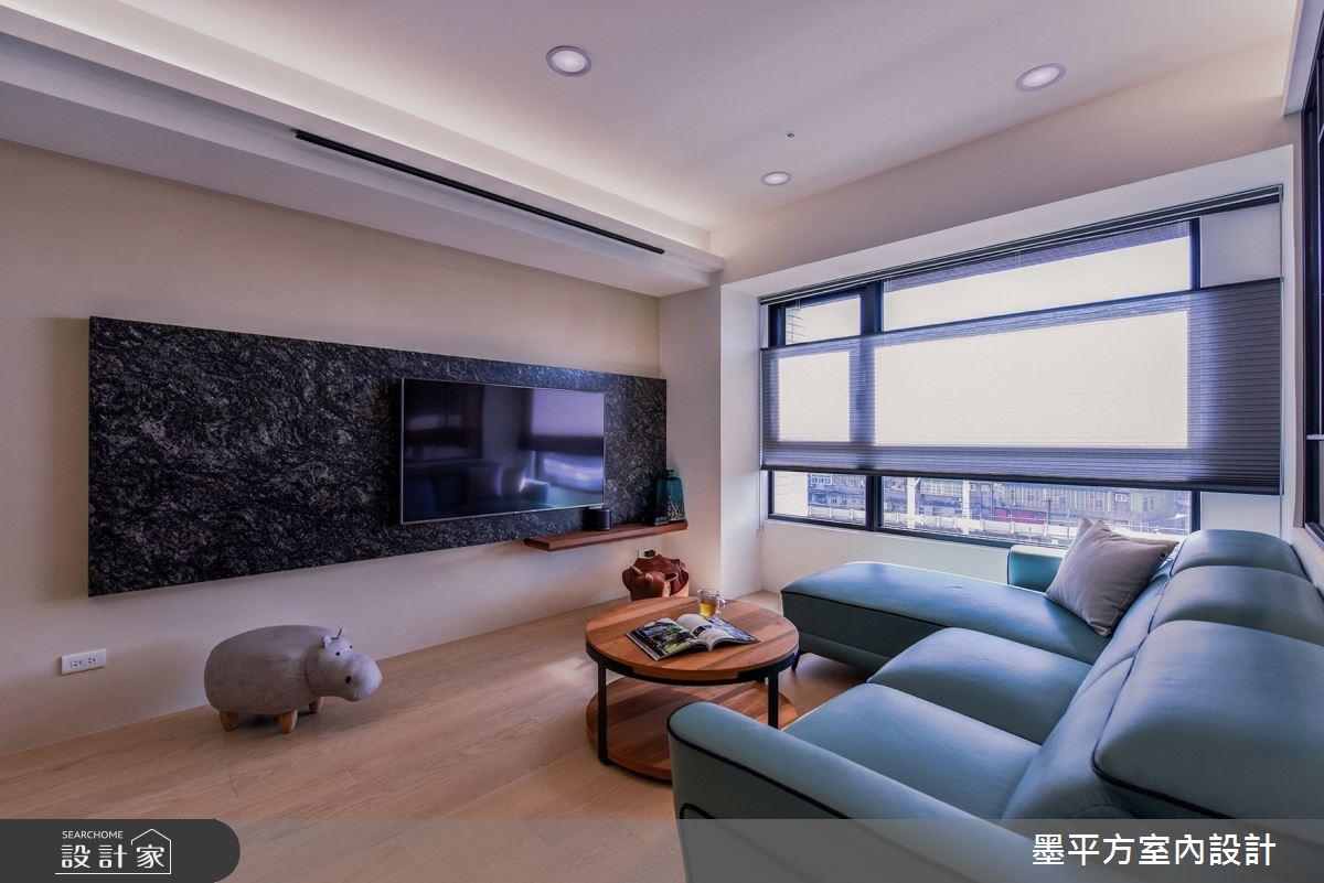 24坪新成屋(5年以下)_混搭風客廳案例圖片_墨平方室內設計裝修有限公司_墨平方_14之5