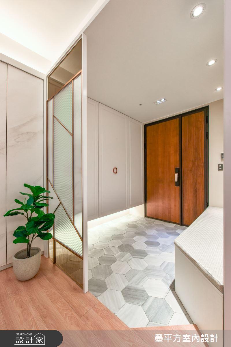 44坪新成屋(5年以下)_混搭風玄關案例圖片_墨平方室內設計裝修有限公司_墨平方_15之2