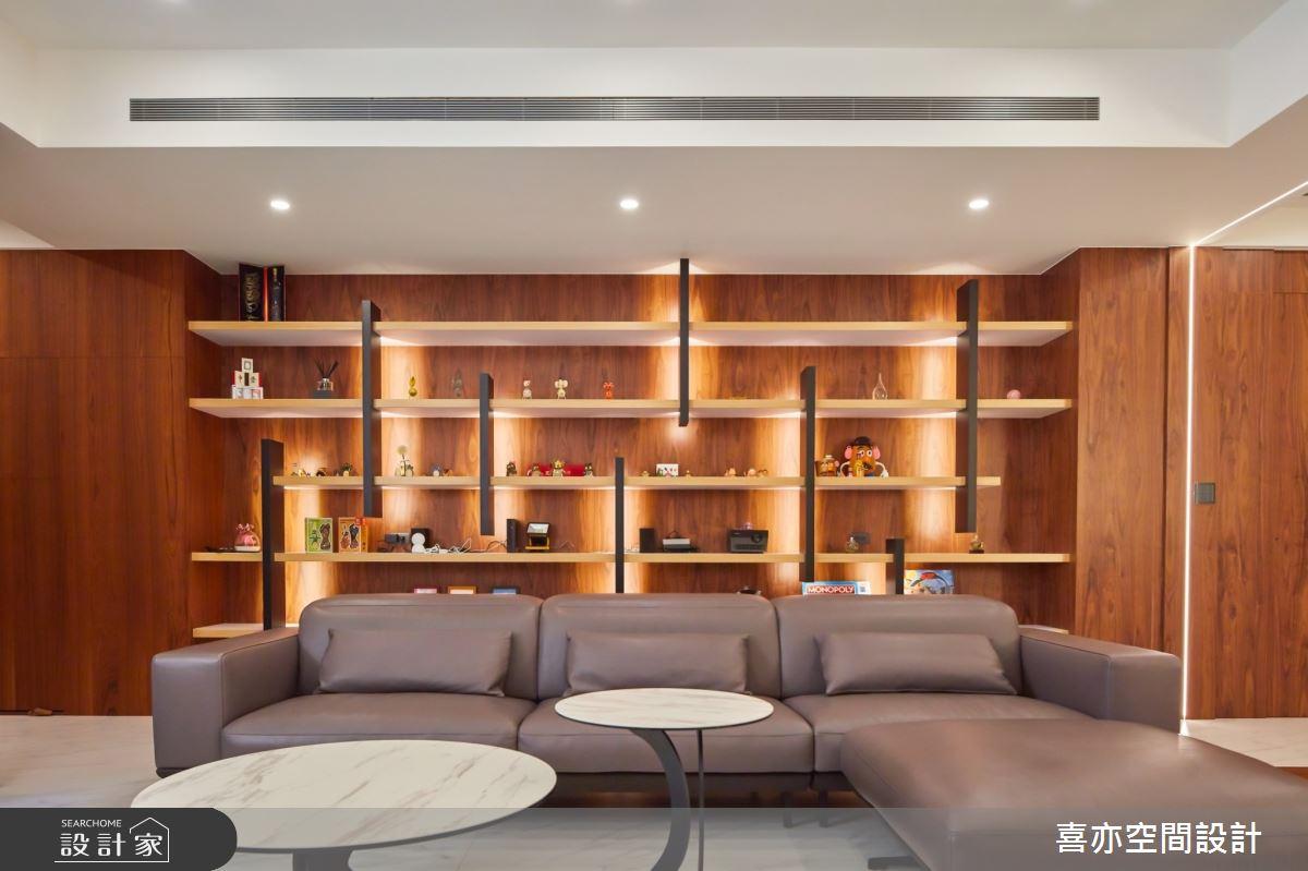 160坪新成屋(5年以下)_現代風客廳案例圖片_喜亦空間設計_喜亦_03之4