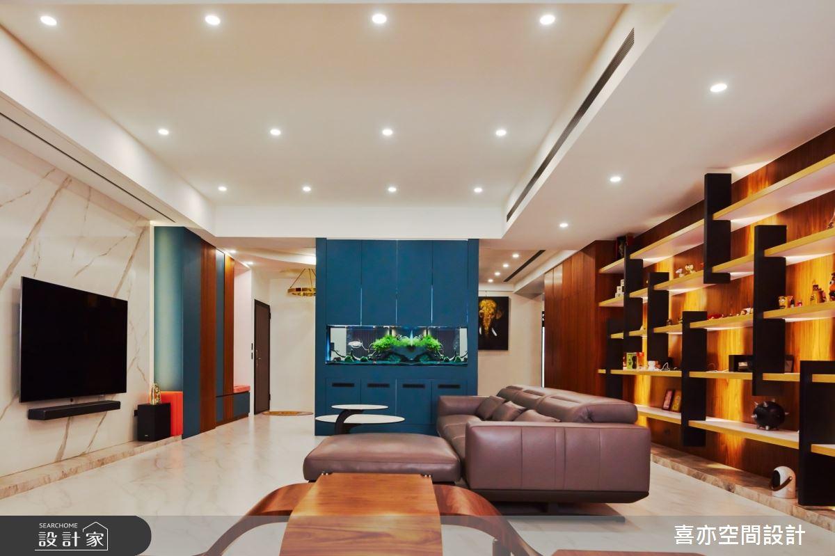 160坪新成屋(5年以下)_現代風客廳案例圖片_喜亦空間設計_喜亦_03之3