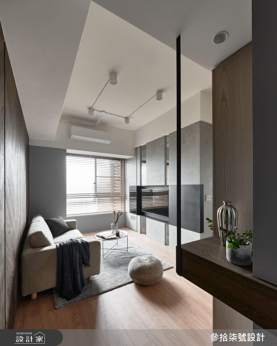 18坪新成屋(5年以下)_現代風客廳案例圖片_參拾柒號設計_參拾柒號_07之2