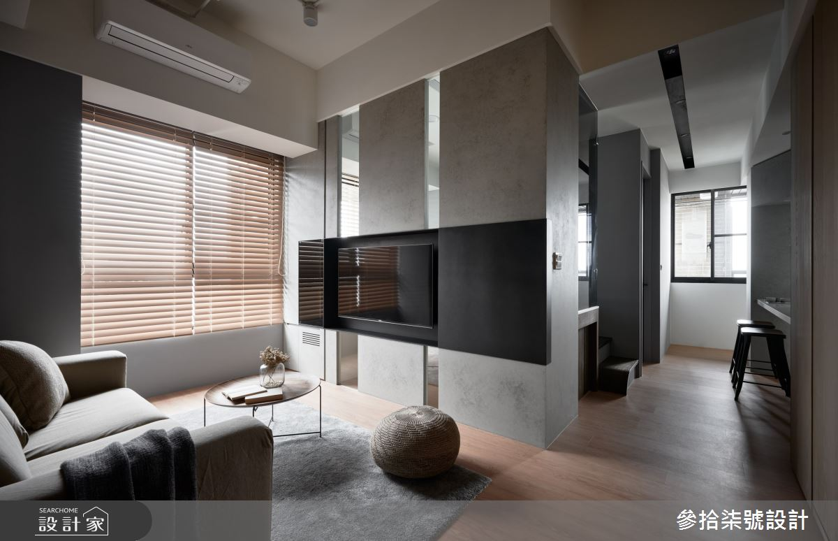 18坪新成屋(5年以下)_現代風客廳案例圖片_參拾柒號設計_參拾柒號_07之3