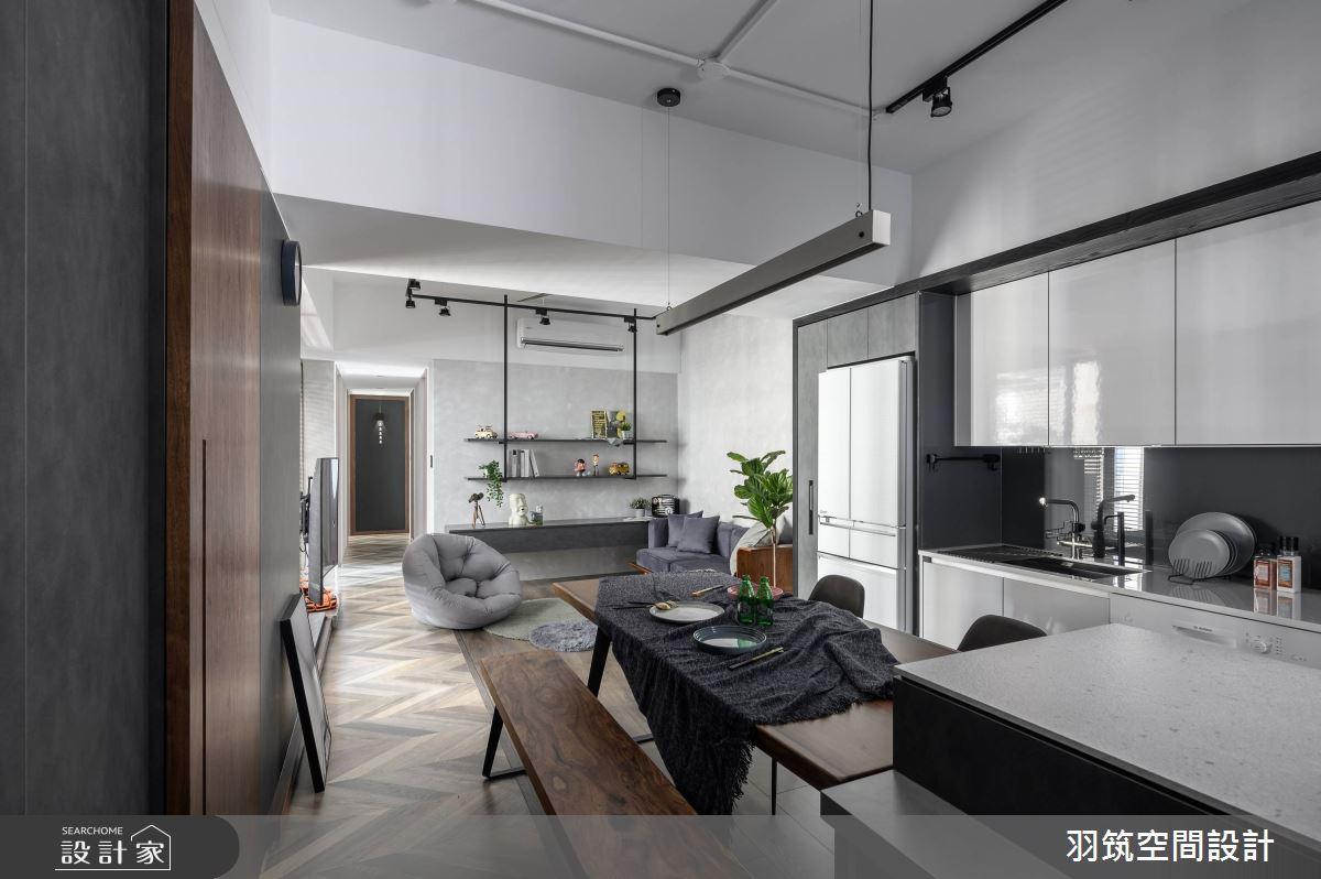 18坪新成屋(5年以下)_工業風案例圖片_羽筑空間設計_羽筑_05之4