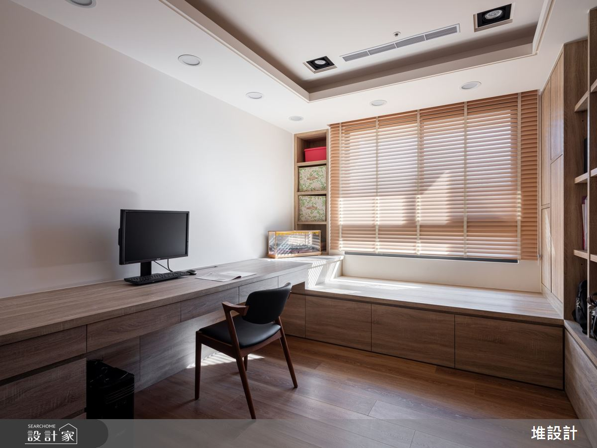 34坪新成屋(5年以下)_現代風臥室案例圖片_堆設計室內裝修_堆設計_01之17