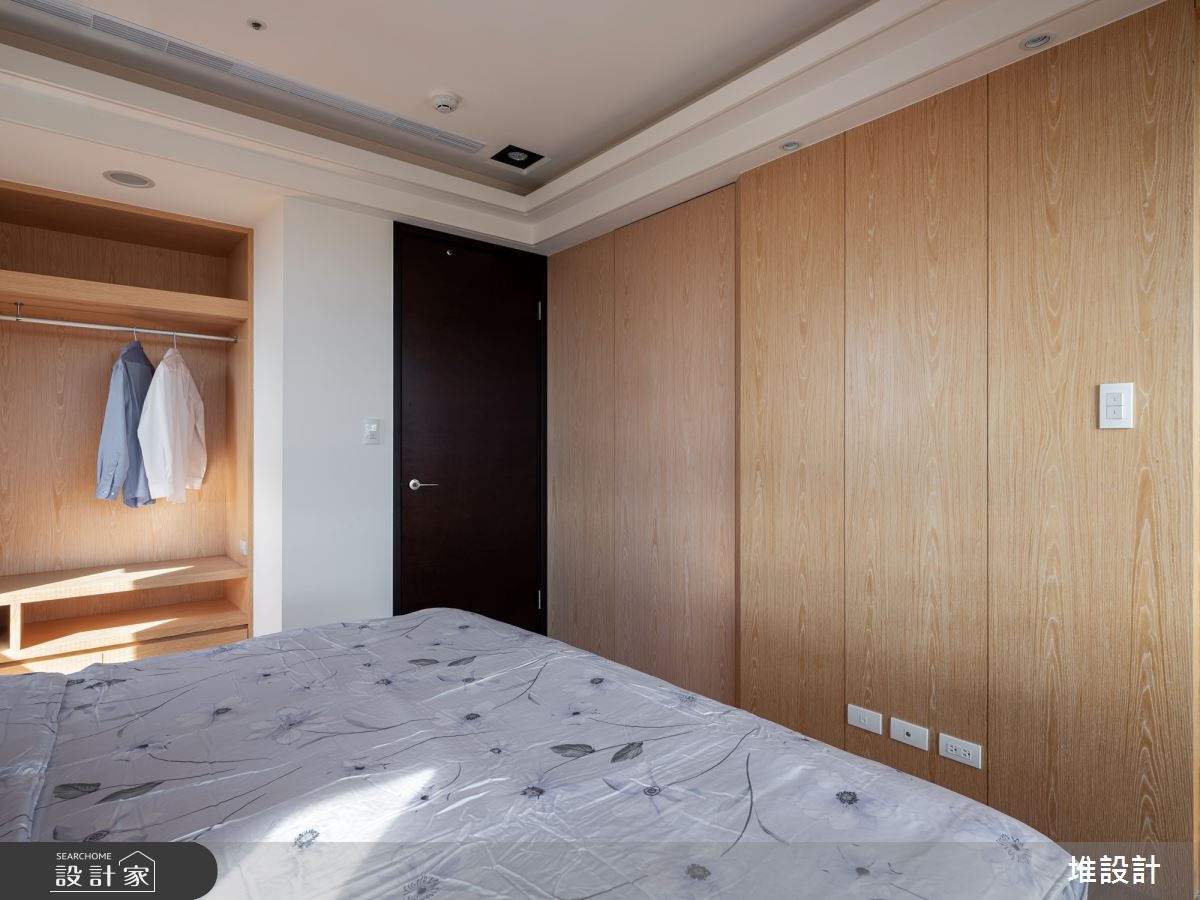 34坪新成屋(5年以下)_現代風臥室案例圖片_堆設計室內裝修_堆設計_01之24