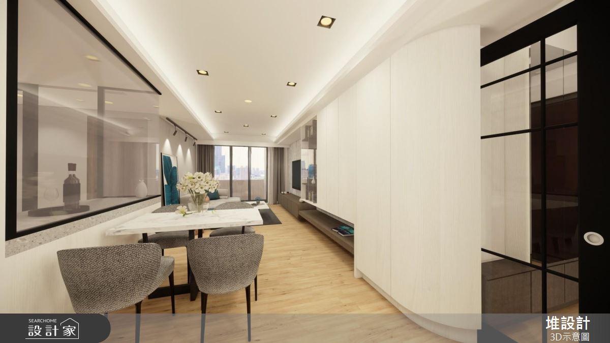 42坪新成屋(5年以下)_現代風案例圖片_堆設計室內裝修_堆設計_03之2