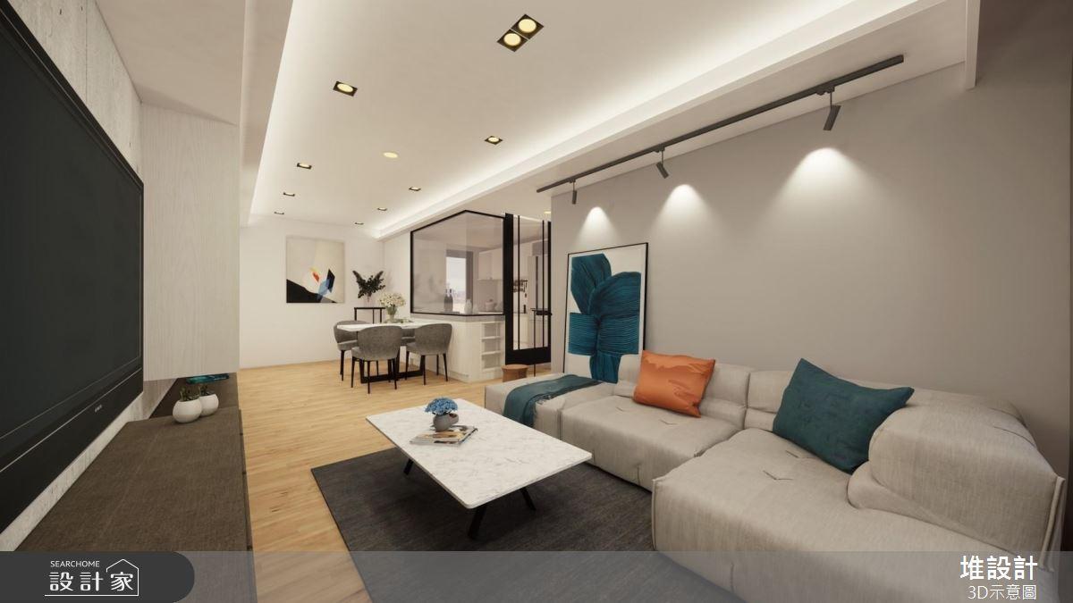 42坪新成屋(5年以下)_現代風案例圖片_堆設計室內裝修_堆設計_03之3