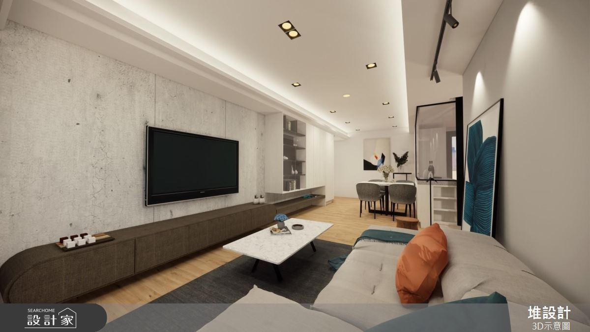42坪新成屋(5年以下)_現代風案例圖片_堆設計室內裝修_堆設計_03之4